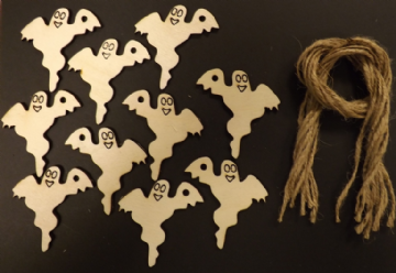 Halloween Ghost Gift Tags / Price Tags 70mm Pack of 10